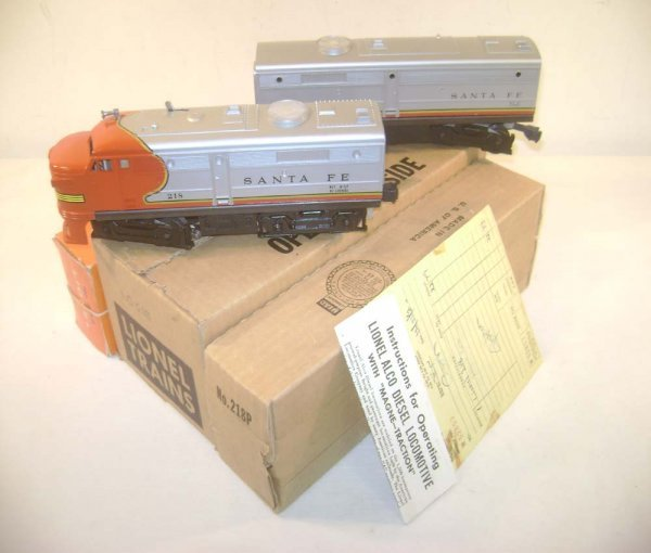 8: ABT: Mint Lionel #218 Santa Fe Alco AB Diesels/OBs+