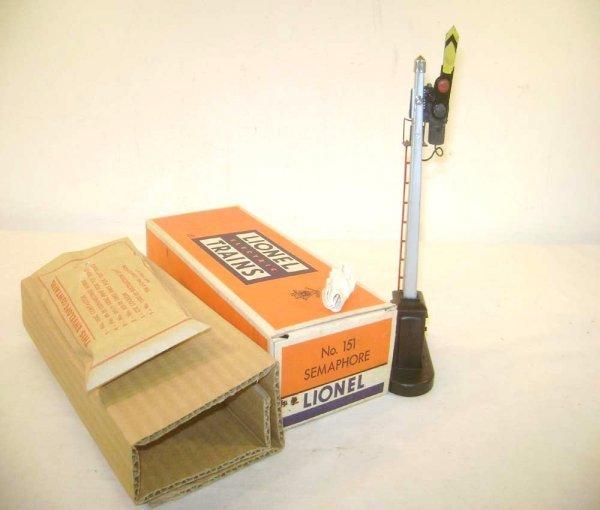 9: ABT: Mint Lionel #151 Semaphore/Brick OB+