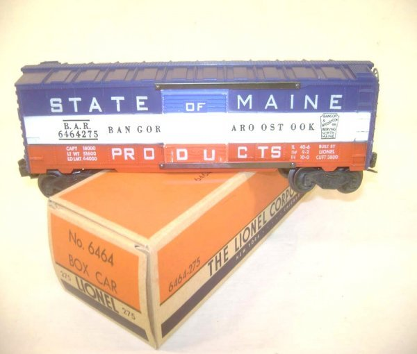 12: ABT: Great Lionel #6464-275 State of Maine Box Car/