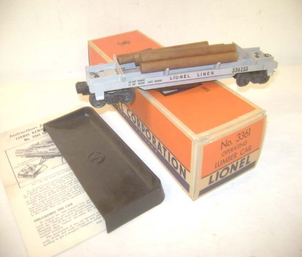 16: ABT: Lionel #3361 Separate-Sale Log Car in Very Sca
