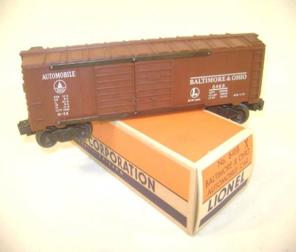 17: ABT: Nice Lionel #6468X Tuscan B&O Automobile Box C