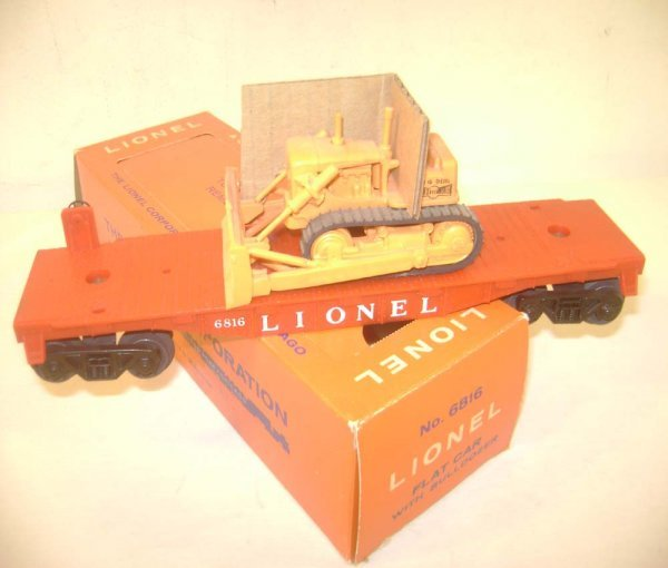 21: ABT: Rare Lionel #6816 Flat Car with Opaque AC Bull