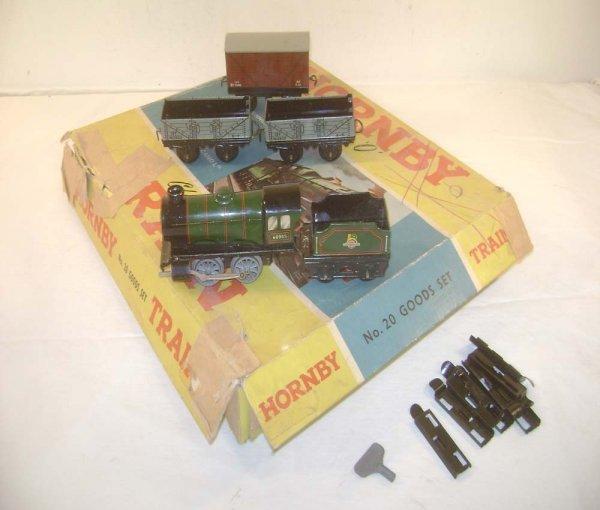 2: ABT: Nice Hornby #20 O Gauge Clockwork Goods Set/OB