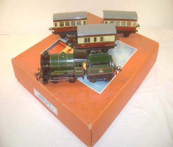 3: ABT: Nice Hornby #51 O Gauge Clockwork Passenger Set