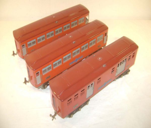 24: ABT: MTH #1766/7/8 Red/Maroon Standard Gauge Passen