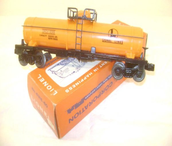11: ABT: Lionel #6315-50 LL Orange Chemical Tank Car/OB