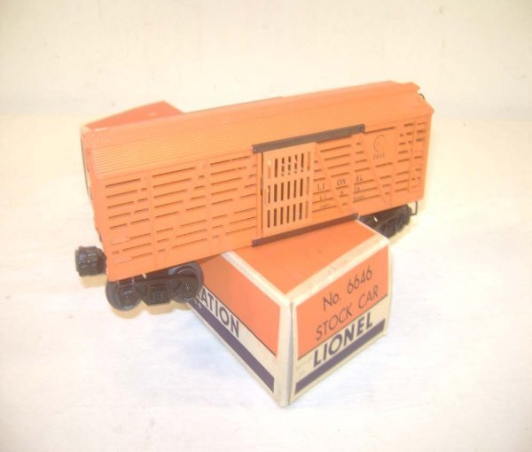 12: ABT: Scarce Lionel #6646 Orange Stock Car/OB