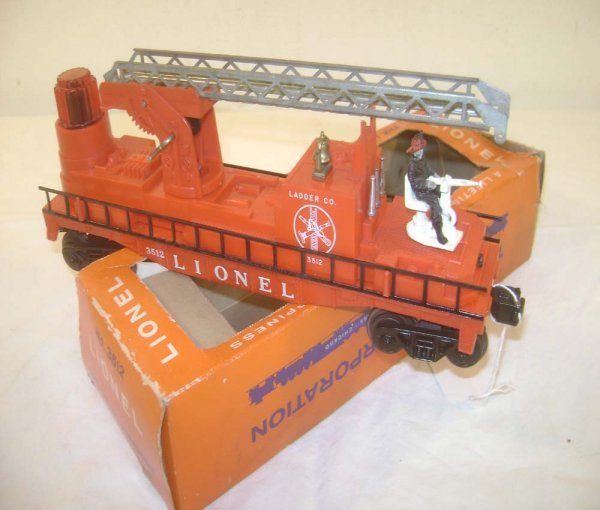 24: ABT: Scarce Lionel #3512 Silver Ladders Fire Car/OB
