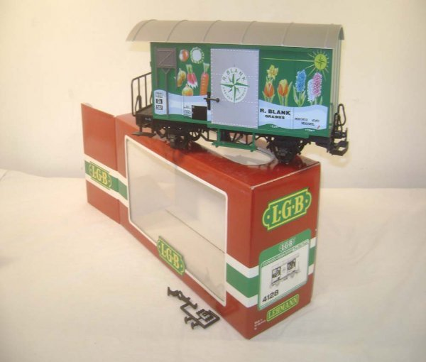 2: ABT: LGB G Scale #4128 R. Blank Box Car/OB