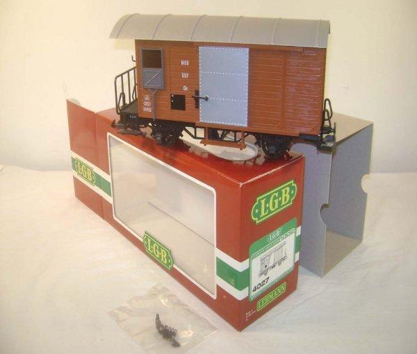 4: ABT: LGB G Scale #4027 Maintenance Shed Car/OB