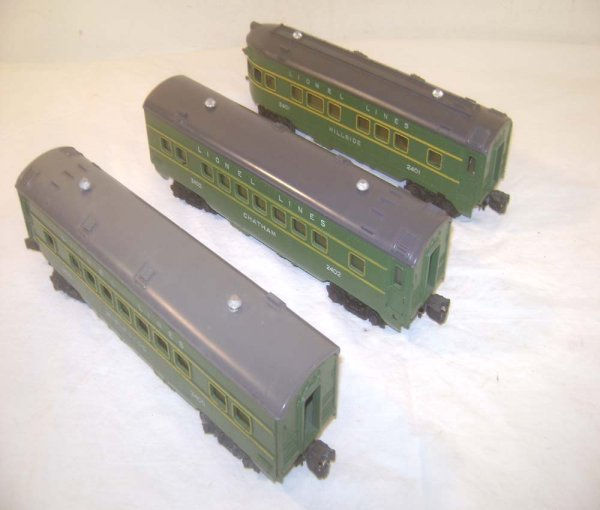 5: ABT: Lionel #2400/2401/2402 Green & Gray Maplewood P