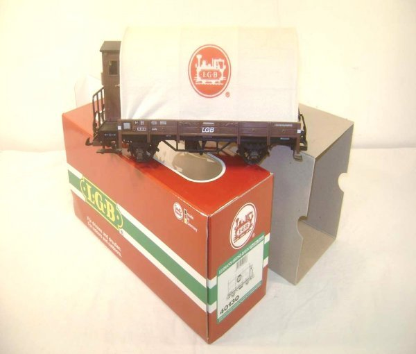 12: ABT: LGB G Scale #40130 Flat with Cloth Cover/OB