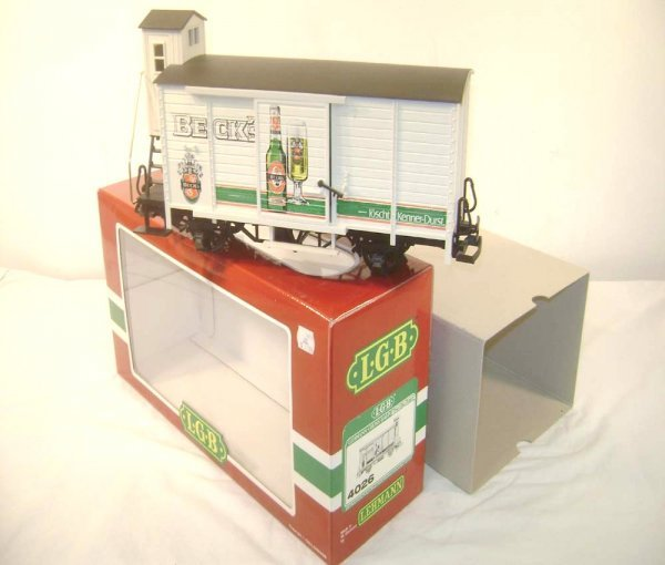 16: ABT: LGB G Scale #4026 Beck's Freight Car/OB