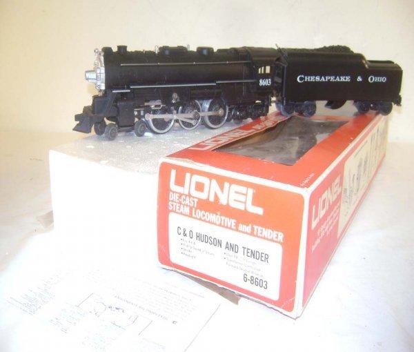 2: ABT: Great Lionel #8603 C&O Diecast Hudson & Tender/