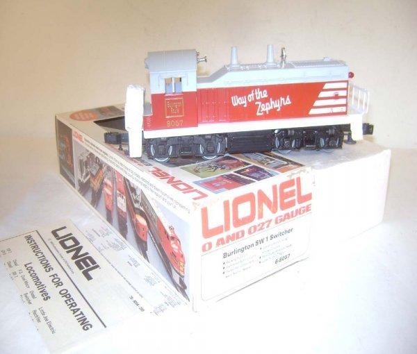 4: ABT: Lionel #8057 Burlington SW-1 Diesel Switcher/OB