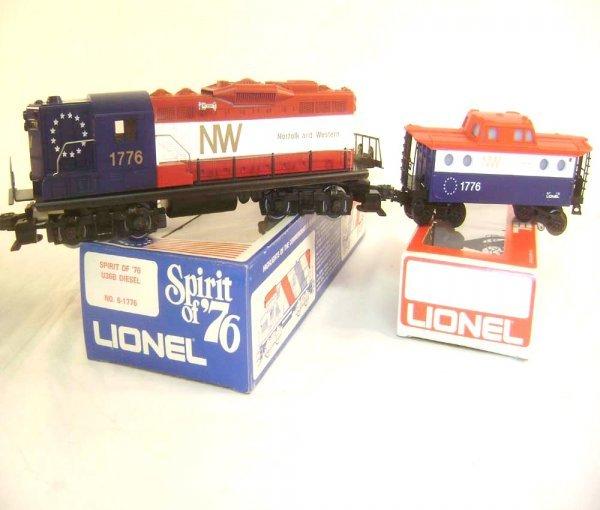 6: ABT: Lionel #1776 N&W GP-9 Spirit of '76 Diesel & #7