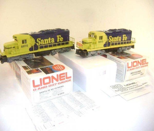 11: ABT: Great Lionel #8872/8873 Santa Fe SD-18 Diesels