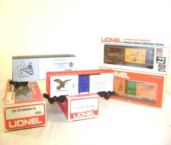14: ABT: 4 Assorted Lionel TCA Convention Cars/OBs