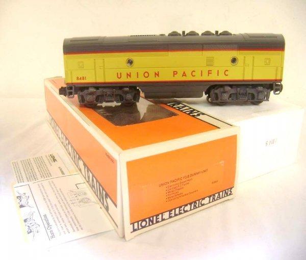 23: ABT: Lionel #8481 Union Pacific F-3 B Unit Diesel/O
