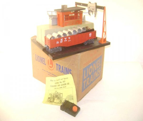 8: ABT: Lionel #342/#6342 Operating Culvert Loader & Ca