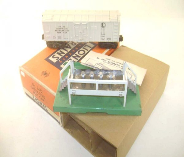 14: ABT: Lionel #3472 Operating Milk Car Set/OB+