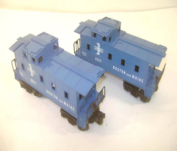 18: ABT: Two Nice Lionel Blue #6017-100 B&M SP-Type Cab