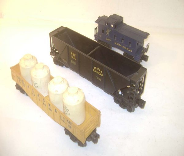 19: ABT: 3 Lionel Alaska Railroad Items: #6162 Gondola;