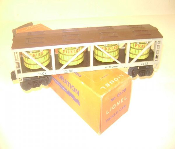22: ABT: Nice Lionel #6475 Pickles Vat Car/ 59 OB