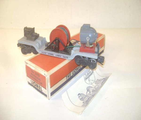 23: ABT: Lionel #3650 Searchlight Extension Car/OB
