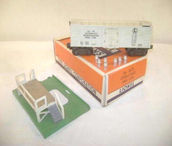 362: ABT: Lionel #3472 Operating Milk Car Set/OB+