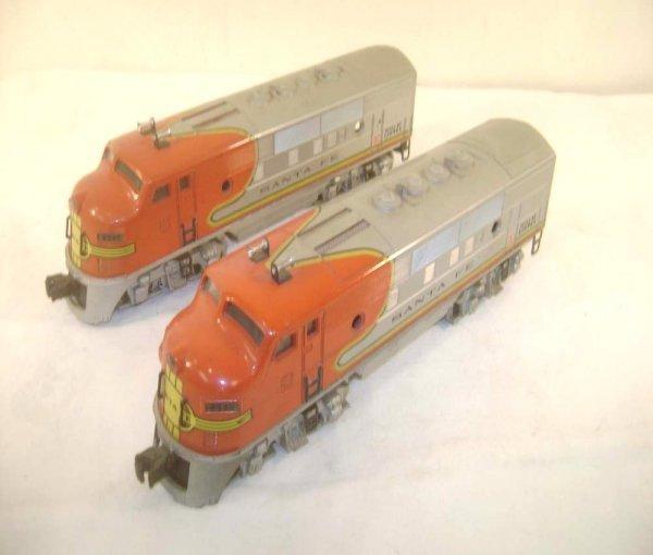 380: ABT: Lionel #2343 Santa Fe F-3 AA Diesels