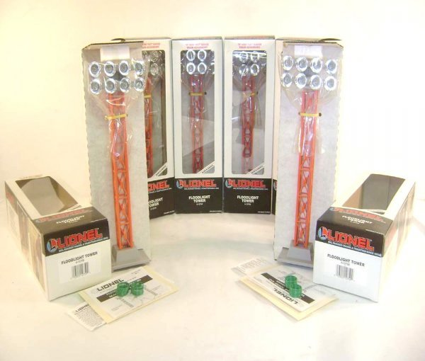 2: ABT: 6 Mint Lionel #12759 Floodlight Towers/OBs