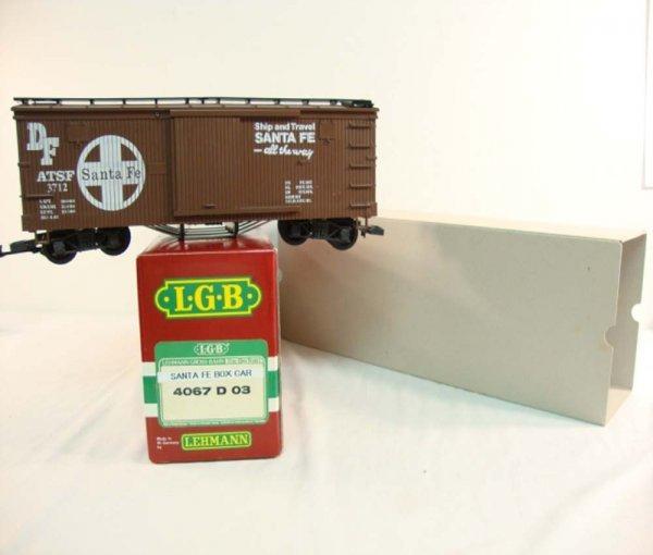 8: ABT: LGB G Scale #4067-D03 Santa Fe Box Car/OB