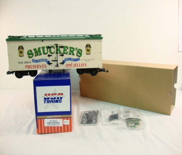 9: ABT: USA G Scale #R-16019 Smuckers Refrigerator Car/