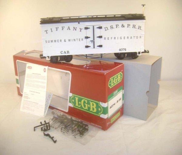 13: ABT: LGB G Scale #4074-B02 Tiffany Reefer/OB