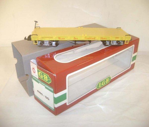 21: ABT: LGB G Scale #4160-DG Wilson Bros. Flat Car/OB