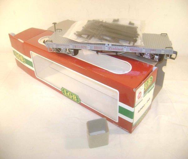 22: ABT: LGB G Scale #4360-DG Wilson Bros Flat Car/OB