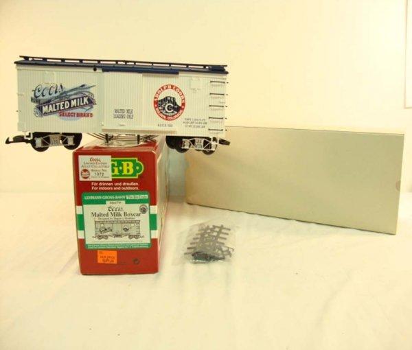 23: ABT: LGB G Scale 46670 Coors Malted Milk Box Car/OB