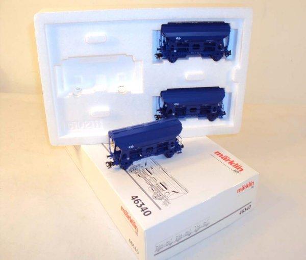 8: ABT: Marklin HO 3-item #46340 Hopper Wagon Set/OB