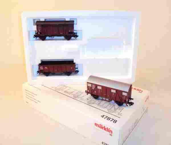 ABT: Marklin HO 3-item #47878 Goods Wagon Set/OB