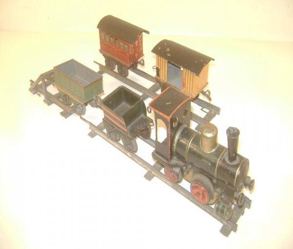 300: ABT: Rare Marklin circa 1890s 5-piece Clockwork O