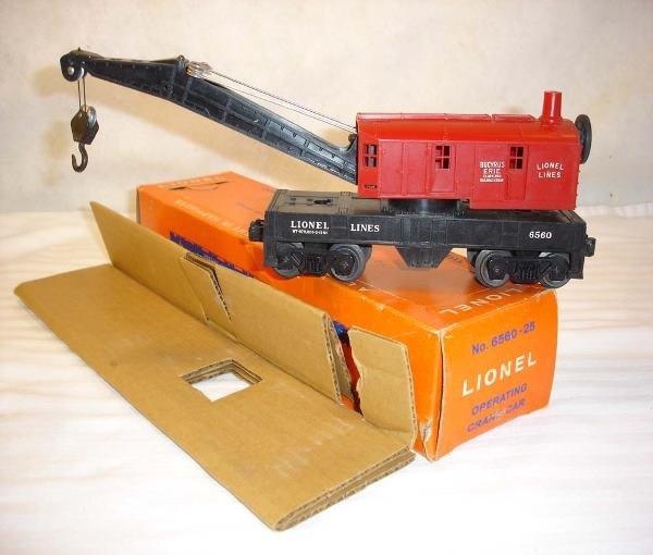 3: ABT:Mint Lionel #6560-25 Crane w/59OB+Shown here is