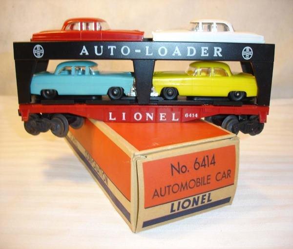 6: ABT: Lionel #6414 Auto Carrier w/Crisp 55- OBThis is