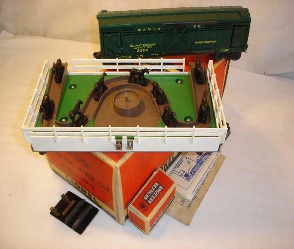 7: ABT: Nice Lionel #3356 Operating Horse Car Set/OBThi