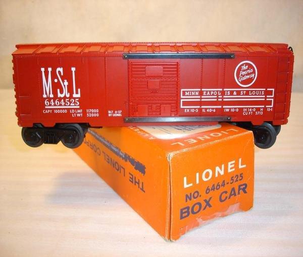 8: ABT:Mint Lionel #6464-525 M&SL Box Car/Pix OBThis is