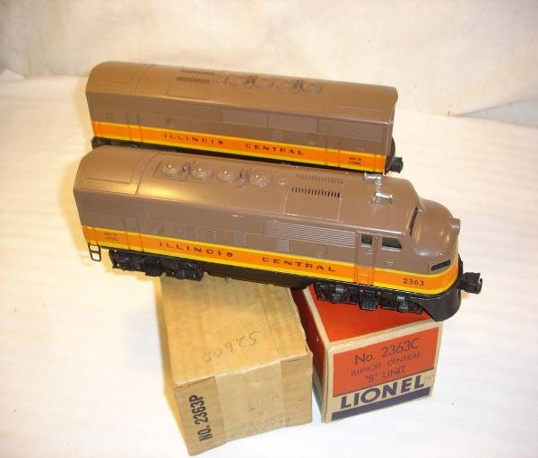 10: ABT: Lionel #2363 Illinois Central F-3 AB Units/Obs