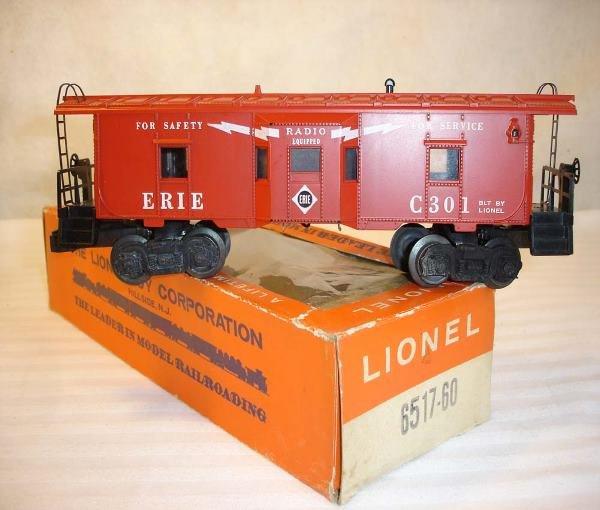 12: ABT: Mint Lionel #6517-60 Erie Caboose/OB+This is t