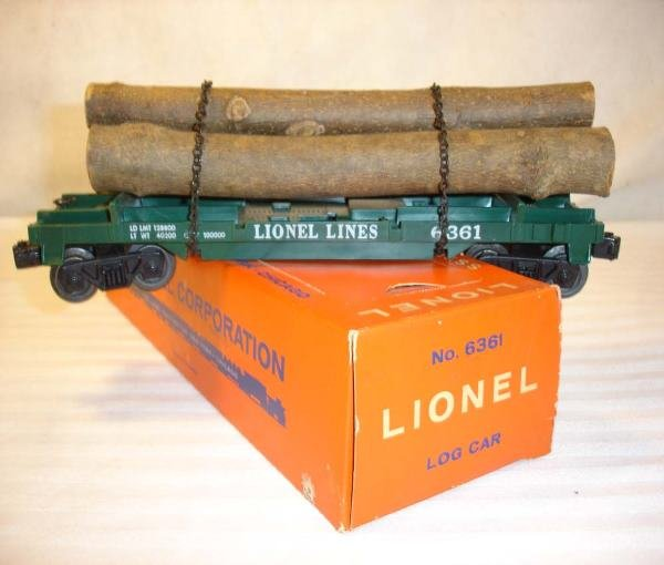 16: ABT:Mint Lionel #6361 Timber Car/Brick 59 OBThis is