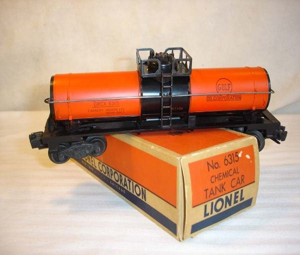 18: ABT: Lionel #6315 Semi-Gloss Gulf Tank Car/OB This
