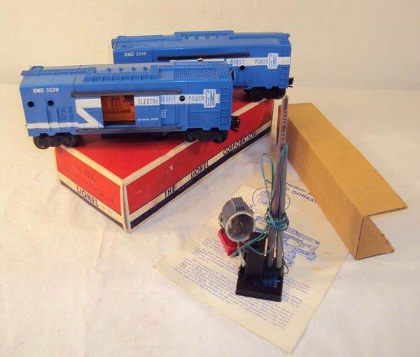 6: ABT: 2 Lionel #3530 Generator Cars/OB+